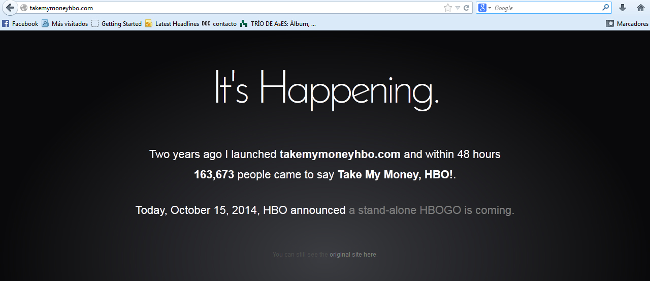Take my money HBO