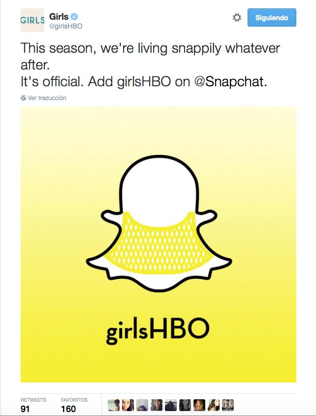 Tuit de la cuenta oficial de GIRLS