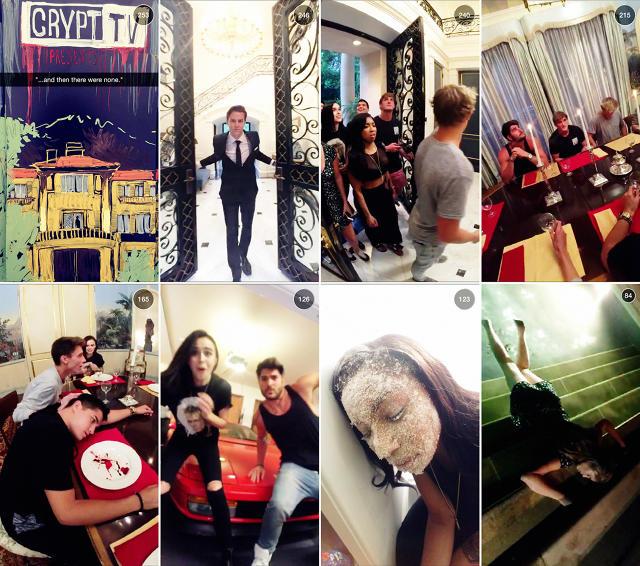 Capturas de CryptTV, la serie de Eli Roth en Snapchat
