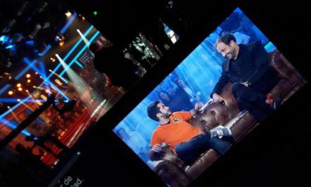 Roberto Vilar, Javi Mos y un Wismichu de carne metido en la tele.