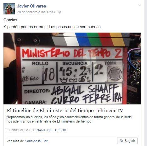 Sobre timeline Javi Olivares