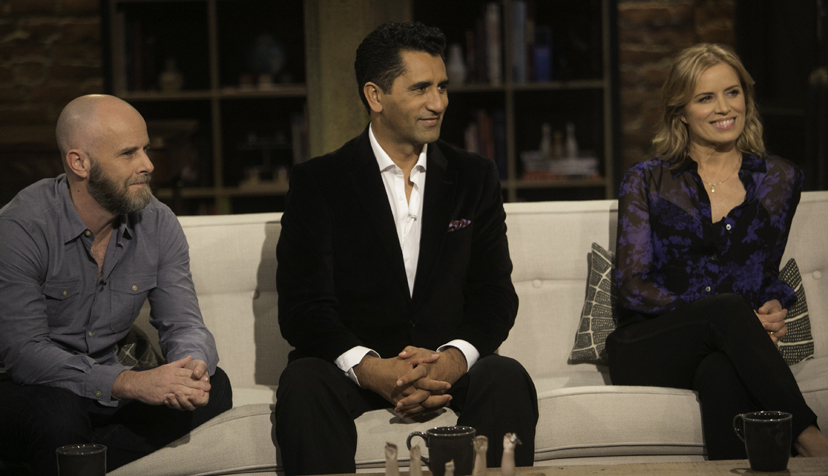 Dave Erickson, Cliff Curtis, Kim Dickens - Talking Dead _ Season 5, Episode 18 - Photo Credit: Jordin Althaus/AMC
