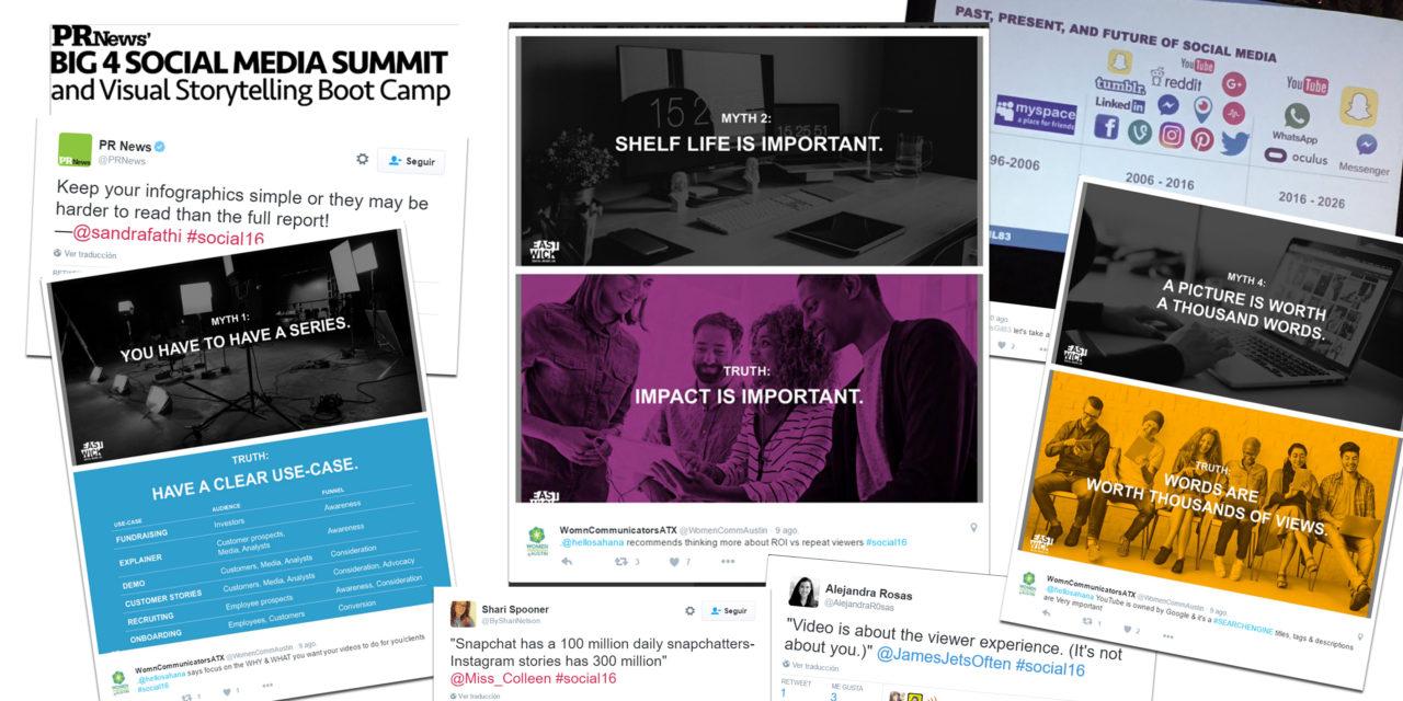 Big 4 Social Media Summit: cómo transmitir en Instagram, Facebook, Twitter o Snapchat.