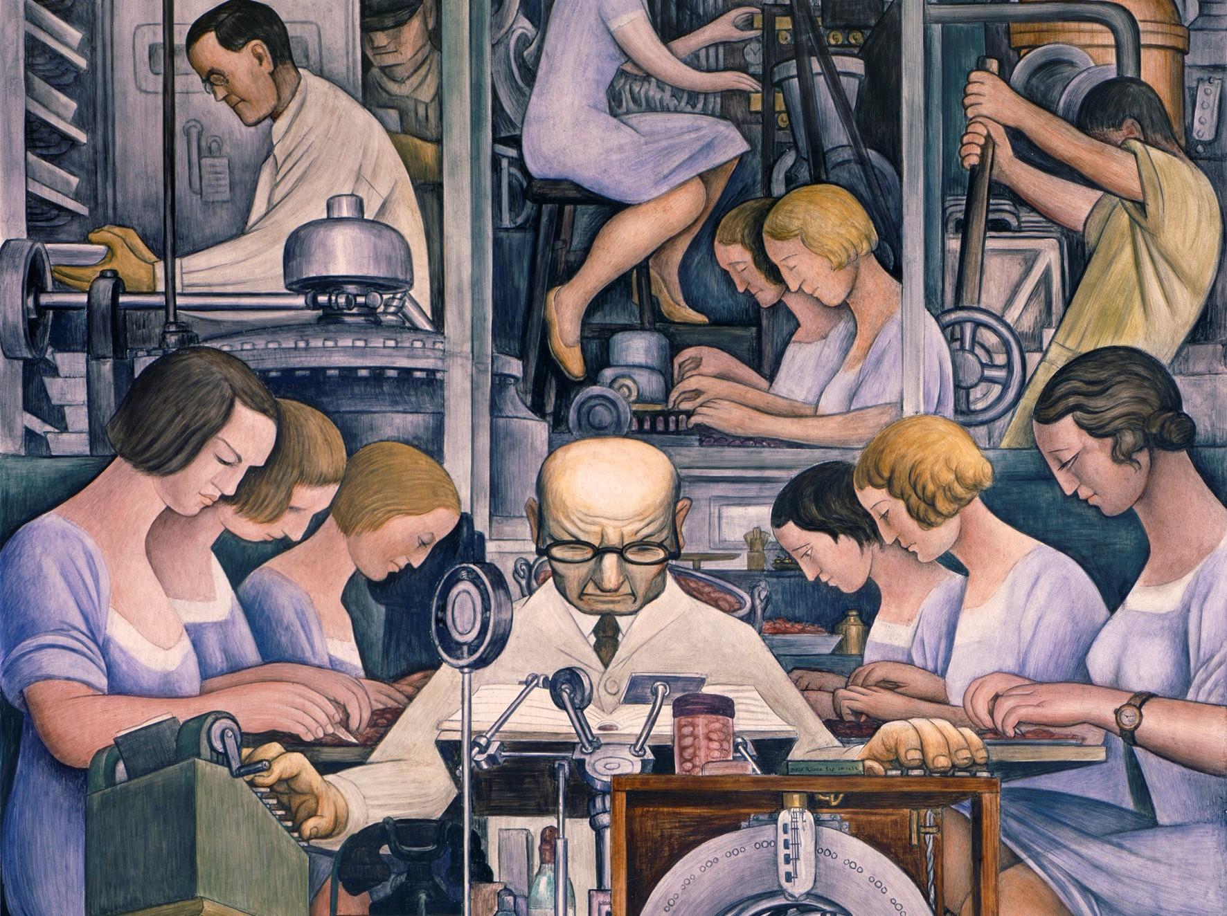 Mural Diego Rivera Detroit Industry Murals