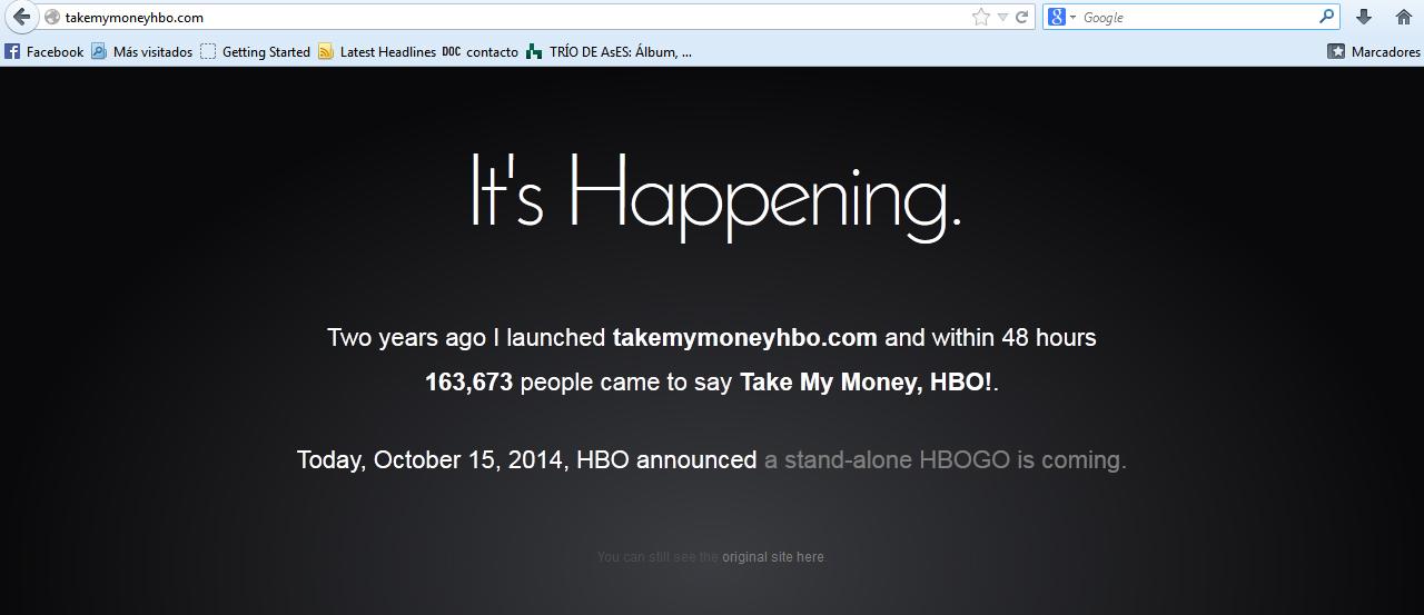 Take my money HBO