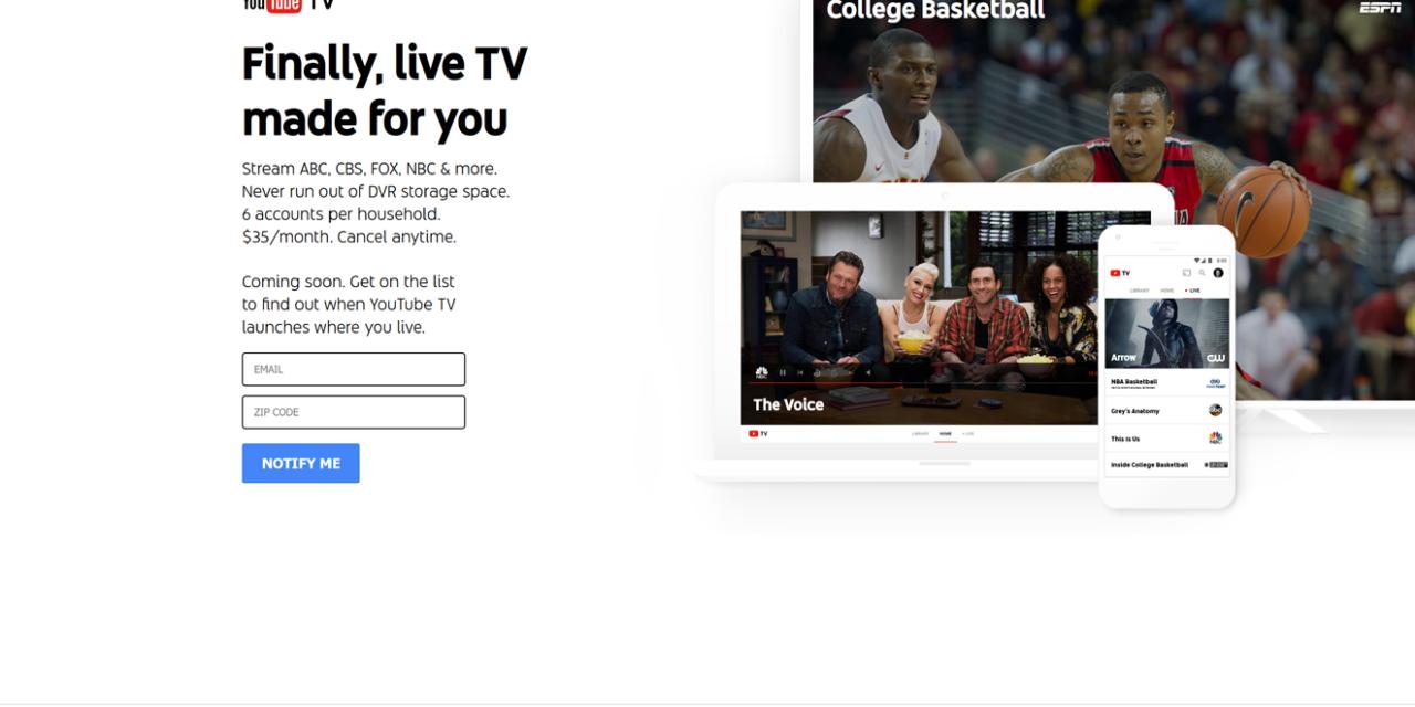YOUTUBE TV = YOUTUBE + TVs