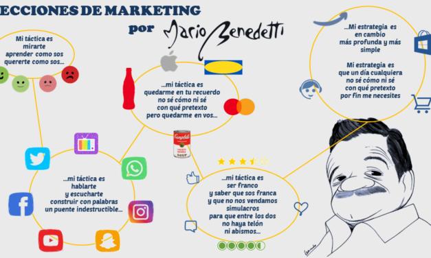 Lecciones de Marketing por el gran Mario Benedetti (táctica y estrategia)